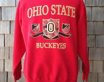 Vintage 90s OHIO STATE Buckeyes Sweatshirt - Medium - University