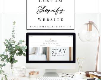 Custom Shopify E-Commerce Website Design | Product Based Business Web Design | Custom Website Design