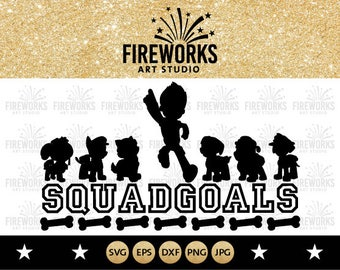 Paw Patrol svg, Squad Goals  Disney svg, Paw Patrol files, Paw Patrol Cricut, Birthday, svg files for Cricut, svg files for Cameo, svg files