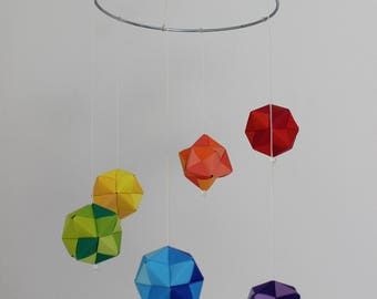 Origami Mobile Octahedron, Hanging