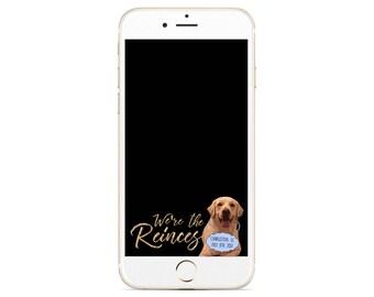 Dog Wedding Snapchat Filter - Custom Wedding Geofilter - Custom Pet Filter - Dog Wedding Geofilter - Golden Retreiever - Gold Wedding Filter