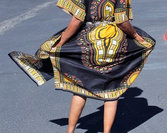 Open yeloo kaftan dashiki dress, Open yeloo dashiki shirt, Open yeloo Ankara dress, Open yeloo Dashiki top, Open yeloo African Bohemian