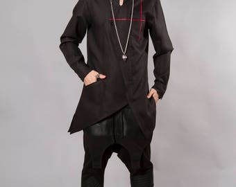 BLACK ASYMMETRIC SHIRT