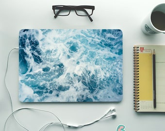 Ocean Laptop Skin Decal Cover Sea Wave Notebook Vinyl Decal Dell Hp Lenovo Asus Acer Laptop Sticker Decal Cover Skins For Any Laptop MB446