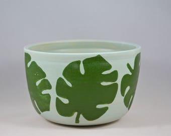 Ceramic Monstera Leaf Planter / Bowl