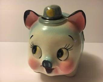 Vintage 1950s police pig piggy bank Westpac Japan