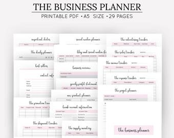 Planner Template Etsy - Business plan overview template