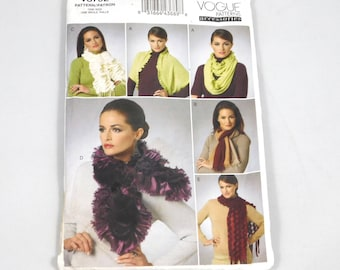 Scarves Sewing Pattern, Vogue V8702, Fall Fashion, Winter Fashion