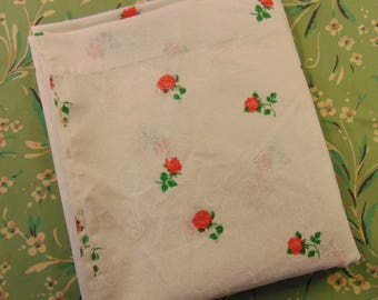 Queen Flat Sheet - Gorgeous Red Roses