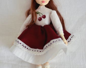 Ooak doll Ooak art doll Artdolls Art doll miniature doll Cherry Artists dolls
