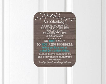 No Soliciting Door Magnet, Do Not Ring Doorbell Sign, Do Not Knock, Wine Sign, Funny Door Magnet, Night Shift Worker, No Soliciting Sign