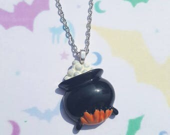 Witches brew necklace, Cauldron necklace, Witch cauldron necklace, Halloween necklace, Witches brew, Witch cauldron, Cauldron, Halloween