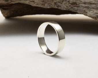Sterling silver ring, mens wedding band, 925 silver wedding ring, casual mens ring, silver wedding ring, simple wedding ring, simple ring