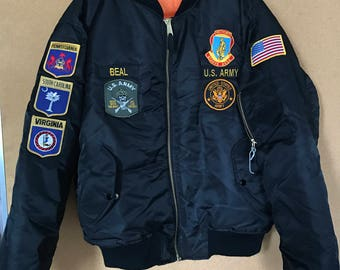 Usa bomber jacket | Etsy