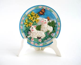 Vintage Easter Decor, Spring Lambs
