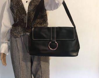 Y2K Vintage Handbag Late 90's Early 2000s Black Purse