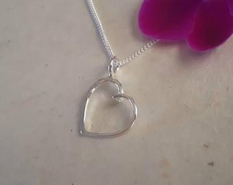 Shabby Chic -  Heart Pendant