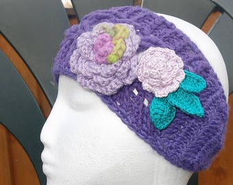 Earwarmers with two roses