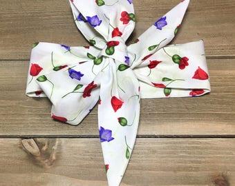 Tossed Stems Headwrap- Head Wrap; Headwrap; Flower Headwrap; Flower Headband; Flower Bow; Baby Headwrap; Toddler Headwrap; Infant Headwrap