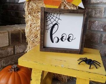 Boo Sign, Halloween Sign, Halloween Decor, Fall Sign