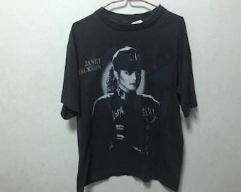 Vintage 1990 Janet Jackson Size L Free Shipping 90s Janet Jackson Rhythm Nation Tour