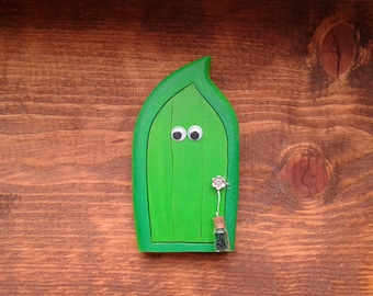 Fairy Door for Wall | Handmade Solid Wood Fairy Door | Unique Gift | Pretend Play | Wall Decor