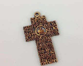 "Mini Cross Padre Nuestro Prayer Baby Miniature Baptism Favors Christening Favors Free Shipping Bautizo Oracion Padre Nuestro Mini Cruz 3"""