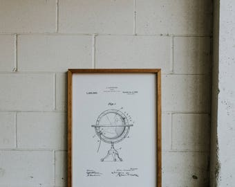 FRAMED PATENT PRINT - Globe