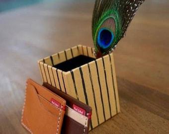 Italian Leather Card Case; Minimalist; Unisex Card Holder; Vachetta; Mens; Womens; Gifts; Free Personal Monogram Emboss!