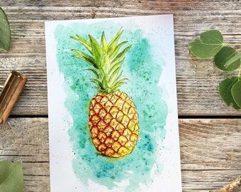 Pineapple print // vacation home decor, vacation wall art, pineapples, print wall summer