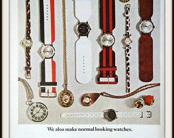 1967 Caravelle Bulova Watch Advertisement. Vintage Bulova Ad. Vintage fashion ad. Vintage watch ad. Vintage Caravelle ad