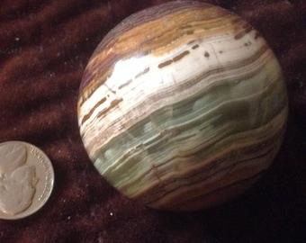 180g Onyx sphere, grounding, protects aura