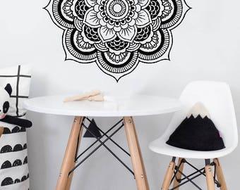 Full Mandala H18 - Home or Office Wall Mandala - BLACK Vinyl Decal