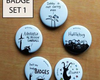 BADGE SET 1 (pack of 5)