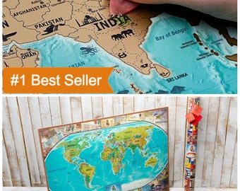 World Map Poster Etsy - World map poster