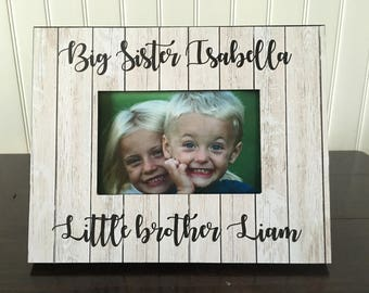 Siblings picture frame // Big Sister little brother picture frame // brothers picture frame // sisters picture frame