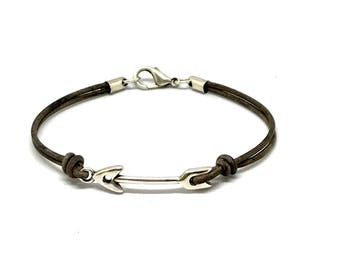 Leather Arrow Bracelet
