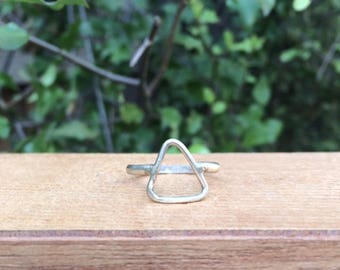 Silver Triangle Ring / Sterling Silver Ring / Silver Geometry Ring / Silver Isosceles Ring / Silver Shape Ring / Silver Stack Ring / Vegan