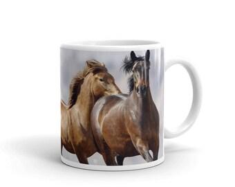 Horse mug, Fully wrapped horse photo mug, Horse gift, Coffee mug for horse lovers