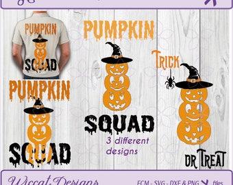 Pumpkin svg, halloween svg, witch hat svg, Pumpkin squad svg, pumpkin stack svg, t shirt svg, dxf halloween, svg bundle, Svg cut file