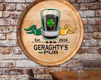 Custom Beer Barrel Sign, Gifts for Beer Lovers, Gift under 50, Gift for Him, Gifts for Dad, Gifts for Boyfriend, Gifts for Brother, Homebrew