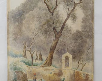 E. C. Dashwood. Signed. Watercolour.