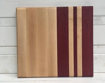 Maple and Purple Heart Cutting Board