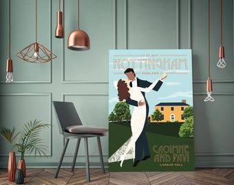 Custom Vintage Wedding Poster