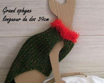 Christmas large sphynx cat sweater