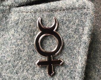 Mercury Symbol Enamel Pin