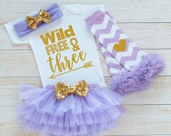 Third Birthday Outfit Girl, 3rd Birthday Girl Shirt, 3rd Birthday Outfit, Tutu Outfit, Birthday Gift, Third Birthday Girl, 3rd Birthday Girl