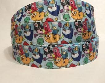 "1/3/5/10 Yards - 1"" Adventure Time Finn Jake Grosgrain Ribbon"