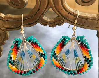 Lakota Beaded Tipi Earrings