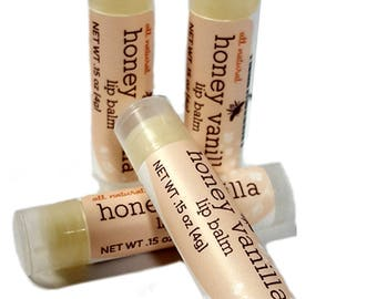 Honey Vanilla Lip Balm - 4 Pack